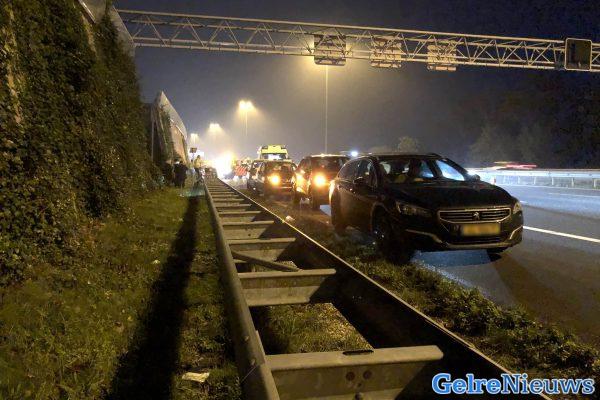 Lange file na ongeval A12 bij Arnhem