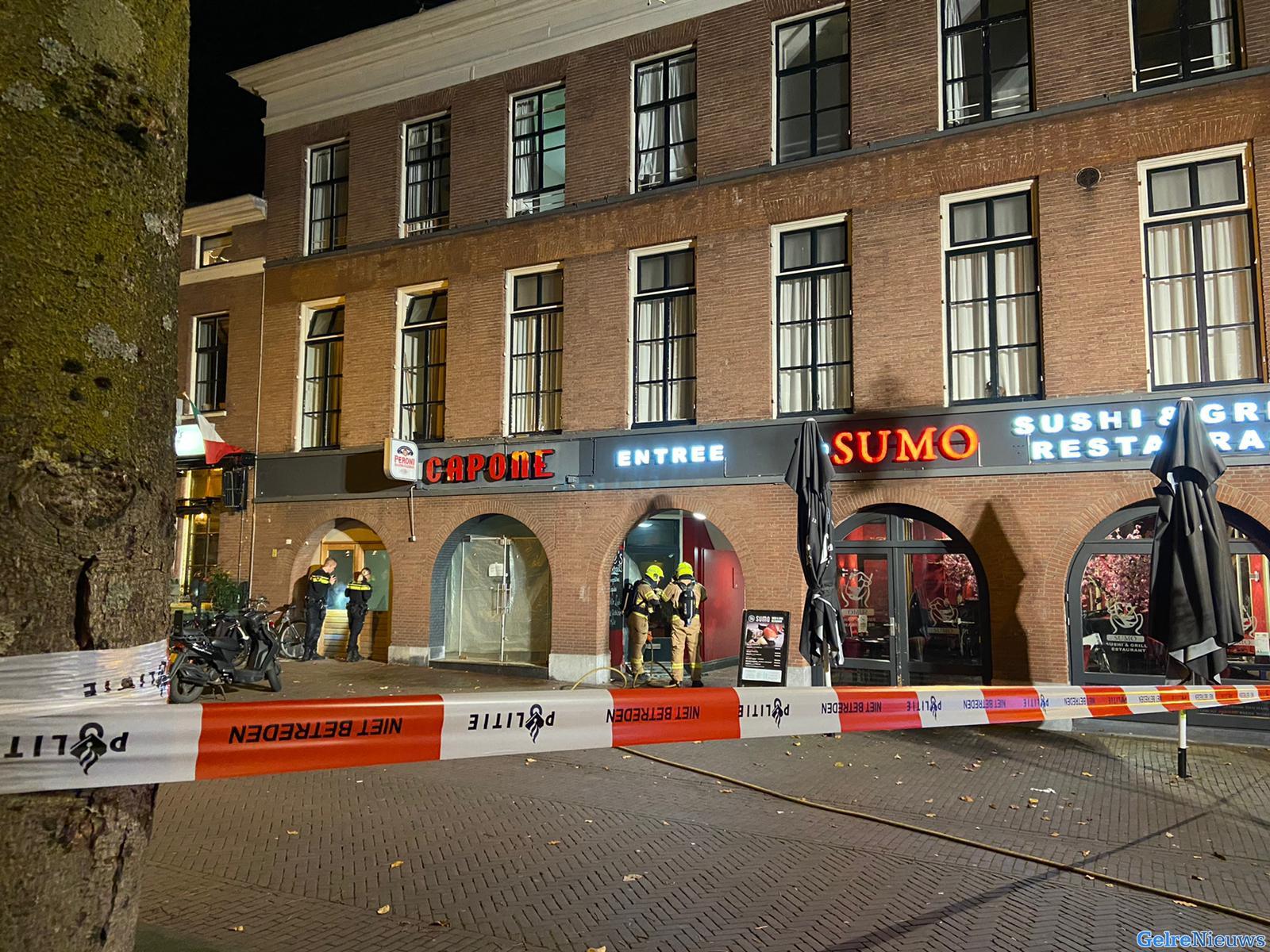 Brand bij café Capone in Arnhem